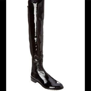 Stuart Weitzman over knee black patent boots